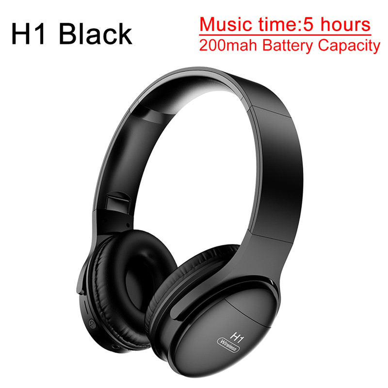 H1 Pro Wireless Headphone Bluetooth 5.0 <font><b>Earphone</b></font> Sport Stereo <font><b>Earphones</b></font> <font><b>Noise</b></font> <font><b>Canceling</b></font> soporte auriculares gaming TF Card Mic image