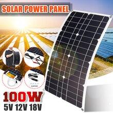 100 Вт солнечная панель USB 5 в постоянного тока 12 В с контроллером 10/20/30 А для автомобиля яхты зарядное устройство водонепроницаемое