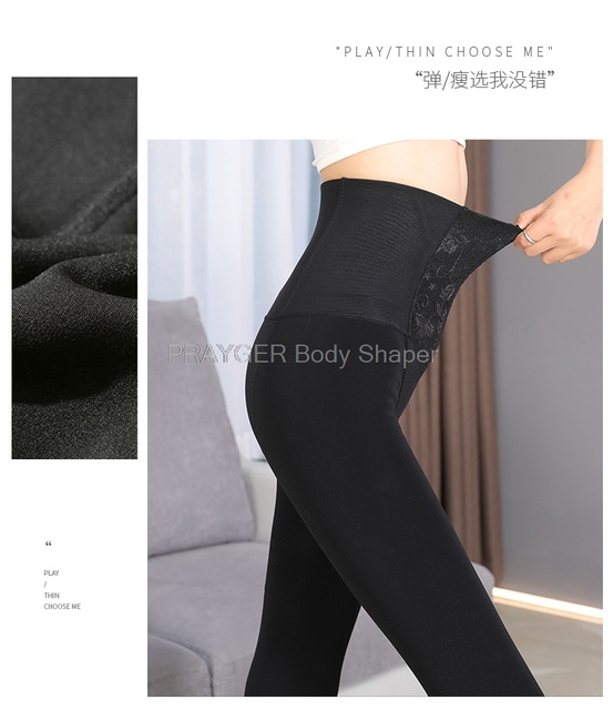 Women Lady Slimming Long Johns Thick Warm Body Shaper High Waist Trainer Panties Control Tummy Trimmer Underwear 5