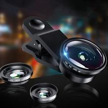 3-In-1 Fish-Eye-Lens Lenses-Clip Mobile-Phone-Camera Macro Wide-Angle iPhone Huawei Xiaomi