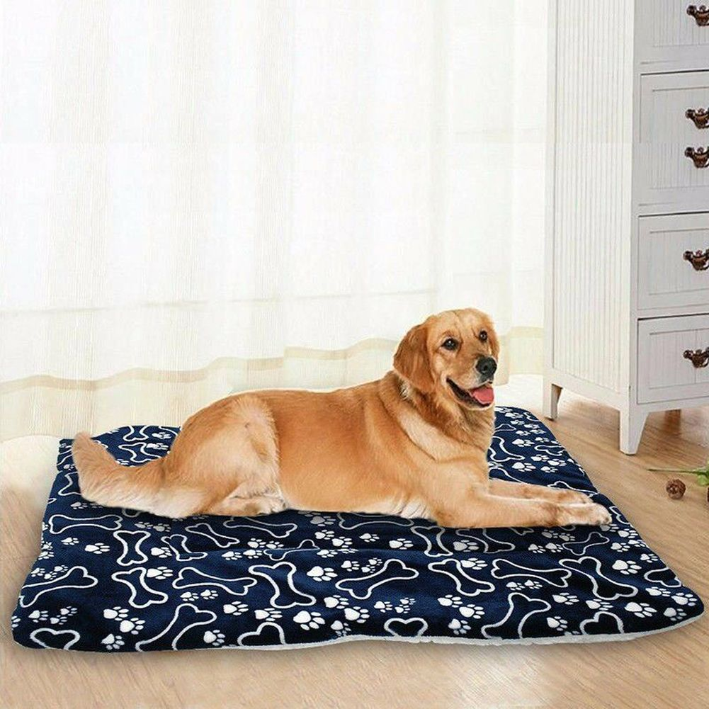 Soft Pet Dog Warm Bed Cat House Washable Home Blanket Large Dog Bed Cushion Mattress Kennel Soft Crate Mat Cats Pillow Slipcover
