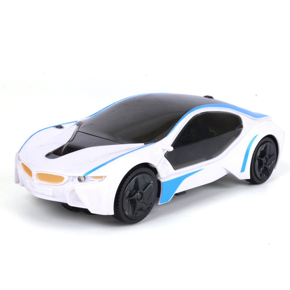 Cool LED Light Music Electric Flashing Cars Toys Universal For Children Early Educational Sound Car Toys Boys New Year Gift(China)