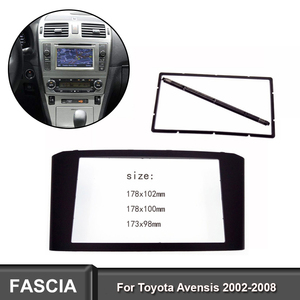 Double 2 Din Fascia fit for Toyota Avensis 2002-2008 facia Radio DVD Stereo CD Panel Dash Kit Trim Fascia Face Plate Frame(China)