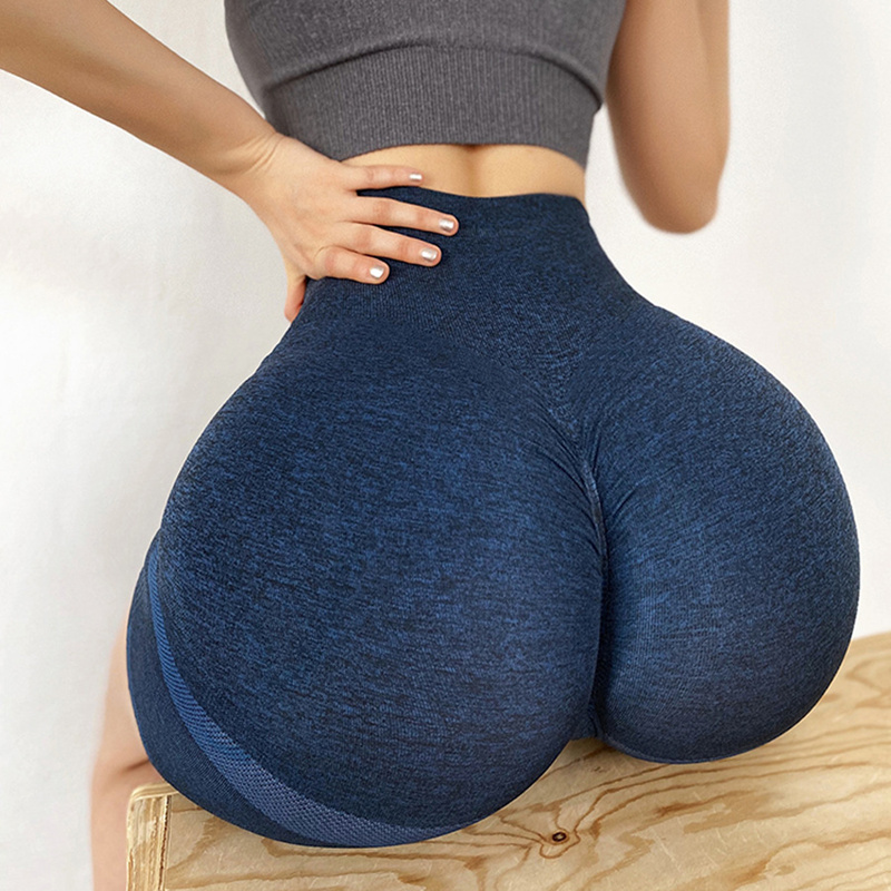 Women Seamless High Waist Booty Shorts Sports Running Fitness Sport Shorts Skinny High Elastic Leggings