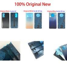100% orijinal yeni Xiaomi Mi 10T Mi 10T Lite arka pil kapağı ile tutkal Adensive Sticker kapı arka konut yedek parça