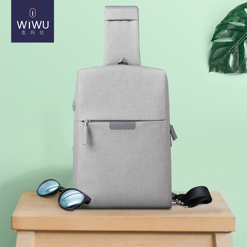 Wiwu New Style Fashion Chest Pack 3C Digital Organizing Storgage Bag Casual Sports Shoulder Oblique Bag Fashion Waterproof Fashi