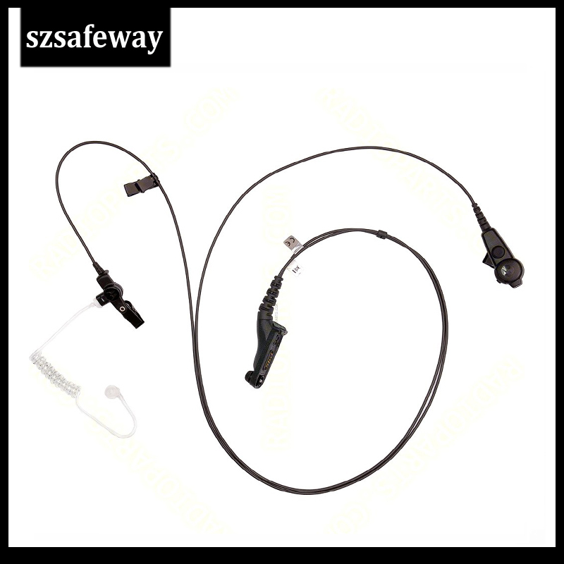 Szsafeway 5pcs/lot Earpiece Acoustic Tube Headset Mic For Motorola Two Way Radio XIR P8268 P8260 APX7000 XPR6550 XPR6300 DP3400