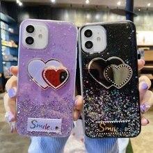 for iPhone 11 12 Pro Max Mini Case Glitter Silicon for iPhone XS Max XR X Phone Cover on iPhone 7 8 6 6S Plus SE 2020 Star Heart