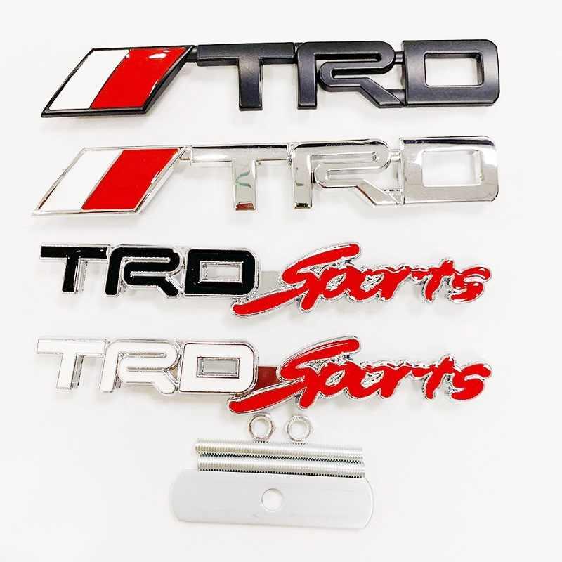 1 sztuk 3D metal TRD logo na samochód grill naklejki z literami i cyframi chrome naklejki samochodowe car styling dla Toyota CROWN REIZ PRIUS COROLLA PREVIA Camry