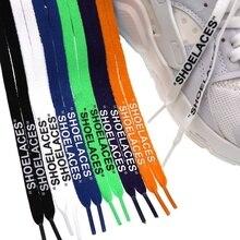 1 пара; цвет черный, белый; Новинка года; шнурки с принтом «шнурки»; модные Оригинальные кроссовки; обувь на плоской подошве; аксессуары для обуви с кружевом