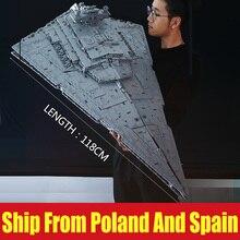 DHL 05027 ของเล่น Star Wars MOC 23556 Imperial Star Destroyer ชุดใช้งานร่วมกับ Legoing 75252 เด็กของขวัญของเล่นบล็อกอาคาร