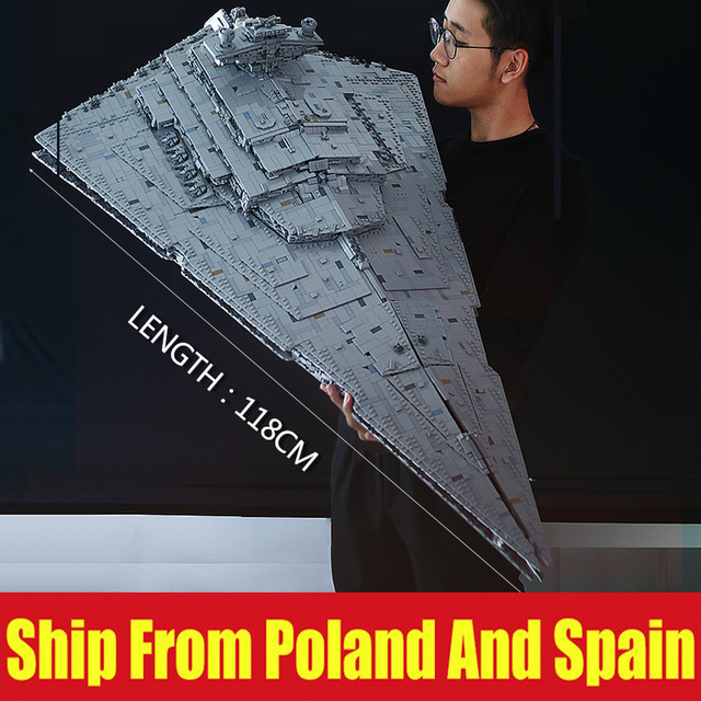 DHL 13135 Star Toys Wars The MOC 23556 Imperial Star Destroyer Set Compatible 05027 Kids Toys Gifts Building Blocks