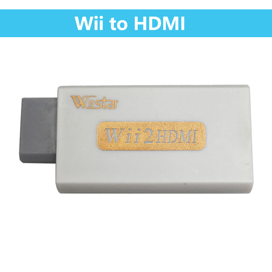Wiistar Wii To HDMI Audio Video Converter Adapter Support FullHD 720P 1080P With 3.5mm Audio Wii2HDMI Adapter For HDTV Monitor