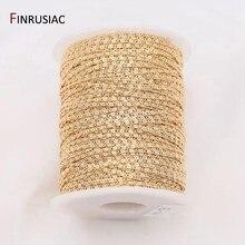 14k real banhado a ouro diy corrente para fazer jóias 1.9mm correntes por atacado artesanal jóias fazendo suprimentos