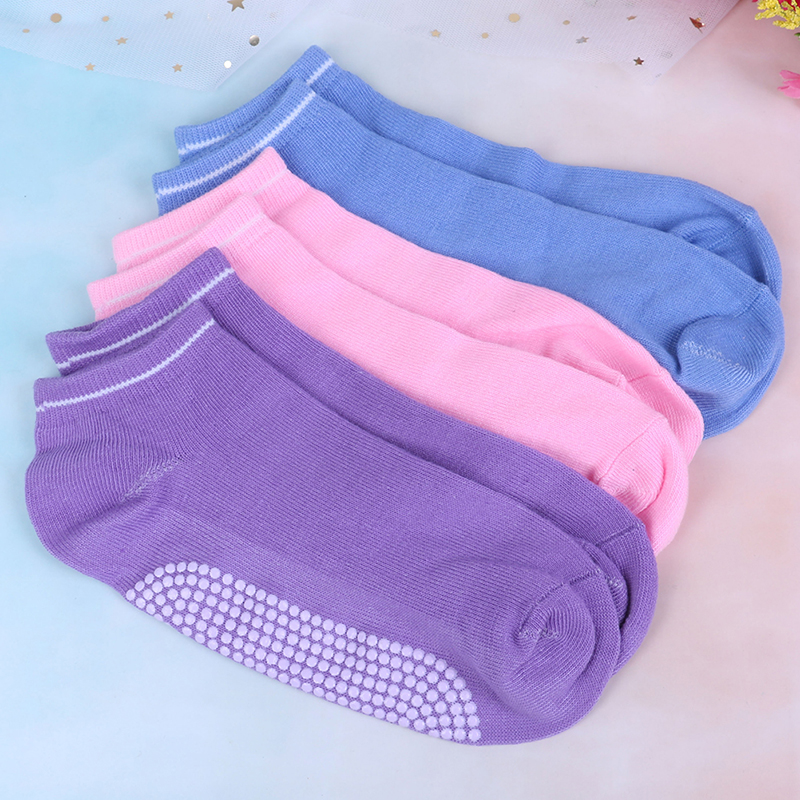 1pair Women's Sports Yoga Fitness Socks Cotton Non-slip Breathable Sports Socks Specially Designed For Yoga And Pilates Exercise