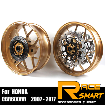 For Honda CBR600RR 2007 - 2017 Motorcycle Front Rear Wheel Rim Front Rear Wheel Rims Brake Dics Motorcycles CBR 600RR 2015 2016