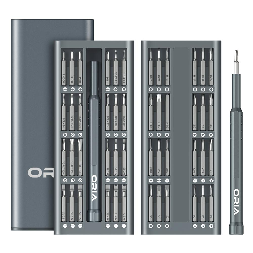 ORIA Precision Screwdriver Bit Set 49-in-1 S2 Steel Magnetic Screwdriver Kit For Phones Game Tablet PC Electronics Repair Tool