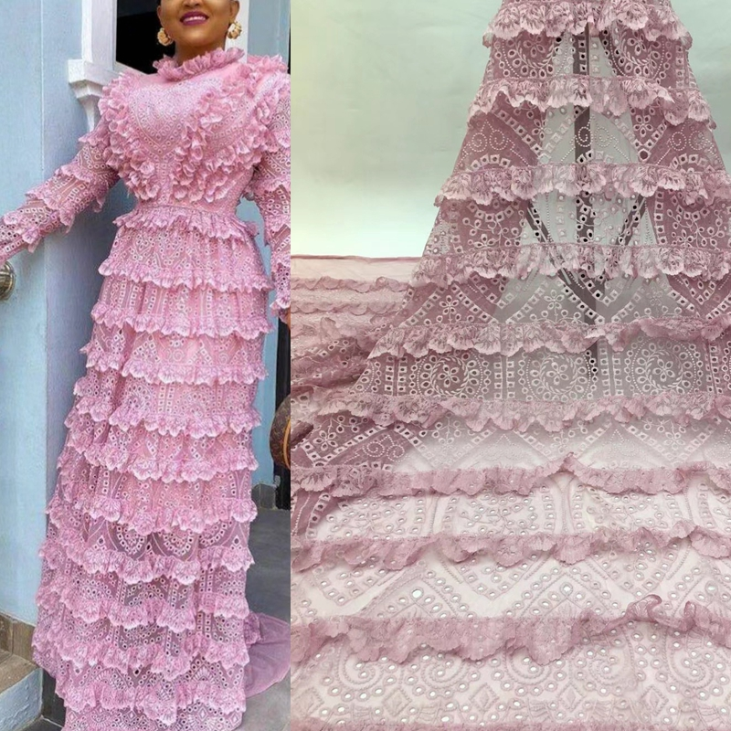 ÆCloseout DealsFabrics Lace French-Net Nigerian African Latest Chiffon for Wedding Tulle High-Quality