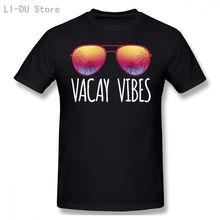 Топы футболки мужские летние vacay vibes для всех забавные