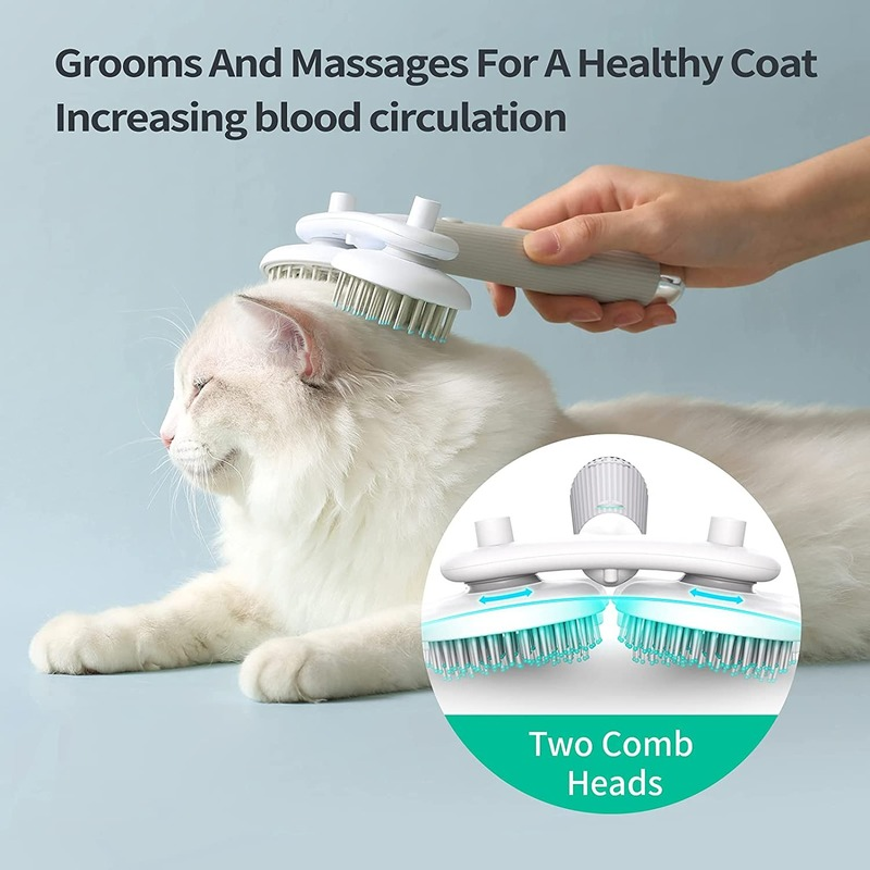 Cats Grooming & Care New Arrivals Cat Grooming Slicker Brush with 144 Skin-Friendly Round Head Comb  My Pet World Store
