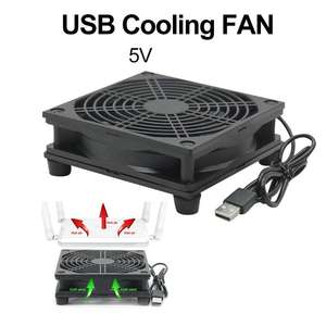 9cm/12cm Cooling Fan DC 5V USB Power Supply Quiet Fan for Router TV Set-Top Box M5TB