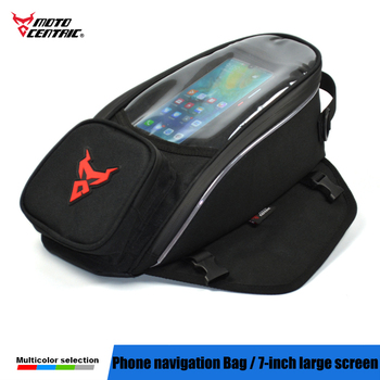 Touch Screen Motorcycle Bag Moto Single Shoulder Bag Motocross Fuel Tank Bag Magnetic fixed straps mobile phone navigation 7inch