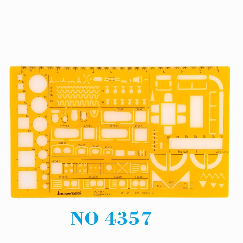 1:50 Architecture Decoration Furniture Design Symbols Drawing Drafting Template Stencil  No 4357