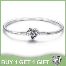 WOSTU argent Sterling 925 véritable arbre de vie pour femmes, Bracelet à breloques et Bracelet de marque Original bricolage même, bijoux CQB066
