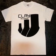 Clay Records-T-shirt 'Logo' (punk oi décharge joie mob amebix kbd)(China)