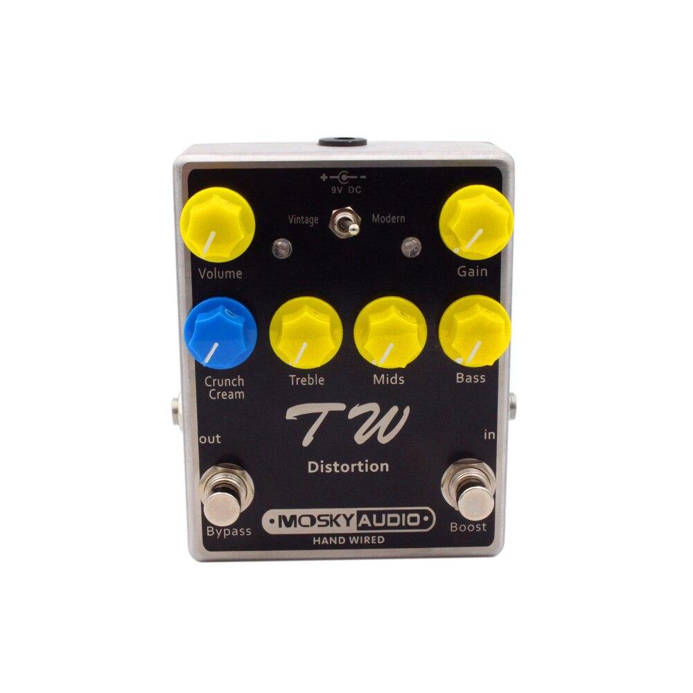 TW distorsion guitare effet pédale Fine-qualité avec condensateurs résistances IC trois bandes EQ guitare effets guitares accessoire - 6