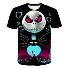 Kids T-Shirt Skellington Christmas Nightmare Short-Sleeve Cool Anime Girls Summer Jack