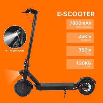 Patinete eléctrico Adulto de 8,5 pulgadas Scooter eléctrico inteligente plegable Longboard con luz LED