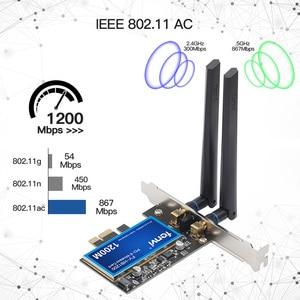 Image 3 - FV HB1200 سطح المكتب ماك هاكينتوش ثنائي النطاق 1200Mbps بلوتوث 4.0 PCI E لاسلكي واي فاي محول 802.11ac BCM94360CS2 واي فاي بطاقة