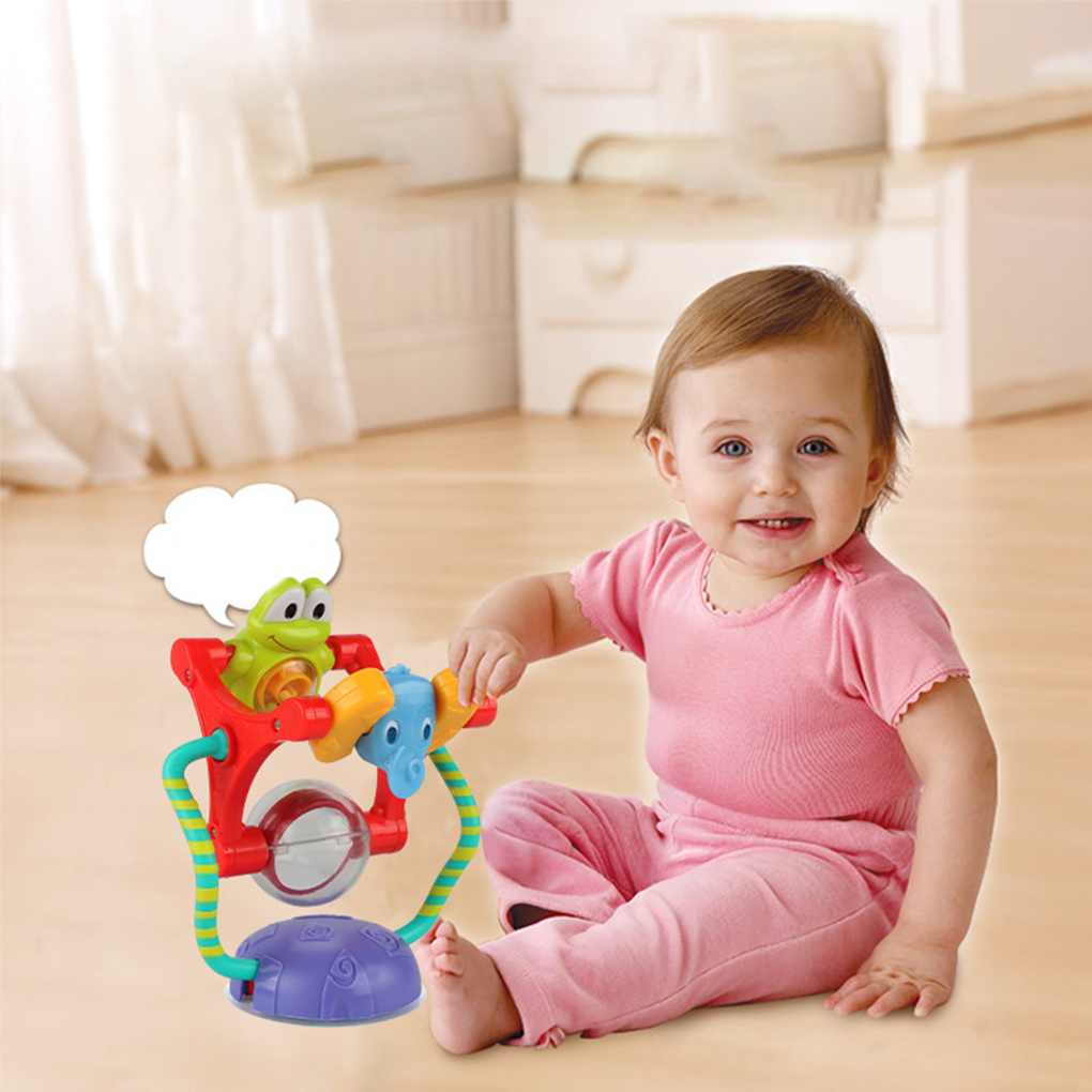 Baby Rattles Multi-touch Colorful Rotating Ferris Wheel Rattles With Suckers For Newborns Infant Baby Toys