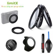 Filtro conjunto uv cpl nd & adaptador anel & lente capa tampa de limpeza caneta ventilador de ar de borracha para sony rx100 v vi iii ii m5 m4 m3 m2 câmera