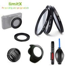 Set di filtri UV CPL ND & Anello Adattatore e Lens Hood Cap Penna di Pulizia Gomma Air Ventilatore per Sony RX100 V VI III II M5 M4 M3 M2 Macchina Fotografica