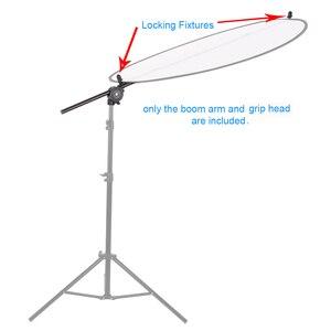 Image 2 - Wysuwany Photo Studio reflektor do zdjęć uchwyt dyfuzora stojak podparcie ramion wysięgnika z elastycznym uchwytem obrotowym