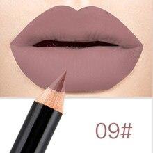 12 cores marca lápis de lábios fosco lipliner lápis à prova dwaterproof água maquiagem lábios 2020 fosco batom lábio forro caneta suave nude cosméticos