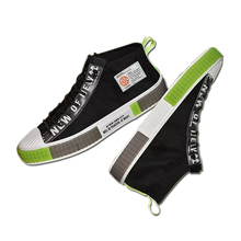 fashion male vulcanized shoes high top lace up canvas casual street trendy flats men