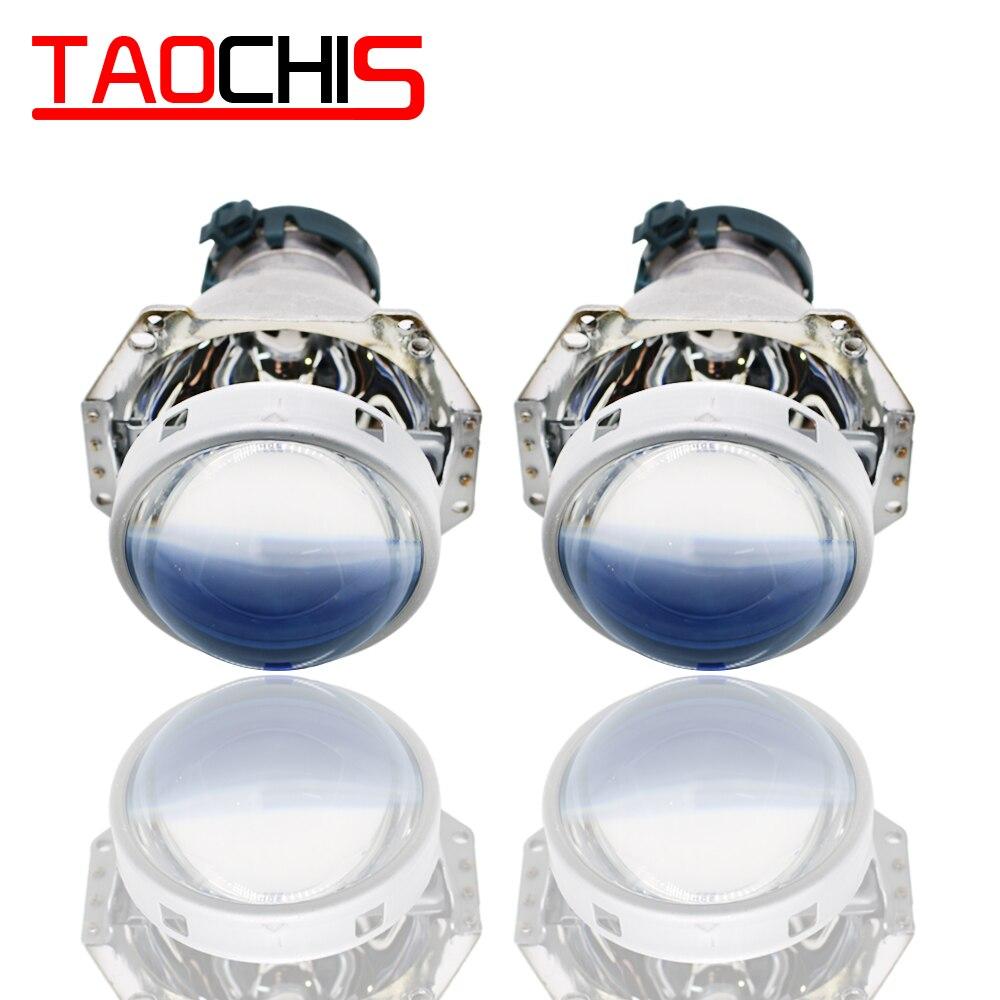 TAOCHIS Hella 3 5 lampe frontale bi-xénon projecteur lentille film bleu voiture style aluminium 3.0 pouces D1S D3S D4S D2S ampoules H4 rénovation
