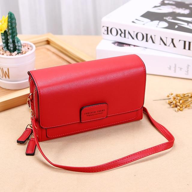 Trend Brand Female Wallet New Shoulder Bag Women Crossbady Bag Luxury Designer PU Leather Ladies Handbags Purse Mobile Phone Bag 3
