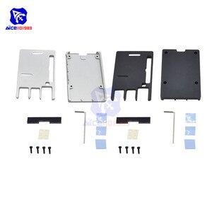 Image 2 - Raspberry Pi Model B Cnc Aluminium Case Ultra Dunne Metalen Doos Bescherming Case Voor Raspberry Pi 4 Model B Met Tool
