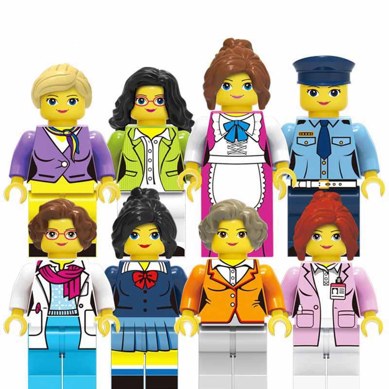 Image 4 - 36 sztuk/partia dziewczyna przyjaciel Mini Doll rysunek bloki zabawki dla dziewczynek modelu budynku zestaw cegieł zabawki dla dzieci Christmas Gift playmobilKlocki do układania   -