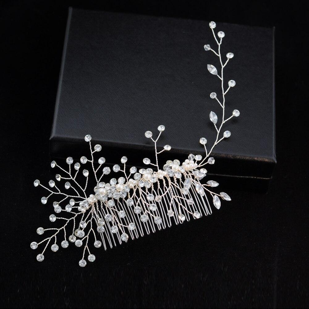 TRiXY H15 Gorgeous Headwear Classical Hair Vine Diamond Hair Comb Wedding Hair Accessory Jewelry Headpiece For Bride Bridesmaid