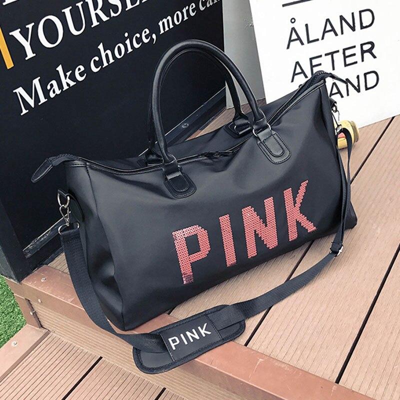 Women's Travel Bag Large Capacity Hand Luggage Bags Waterproof Oxford Cloth Travel Duffle Bag Zipper Leisure Weekend Package
