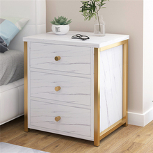 Bedside table nightstand bedroom furniture 1/2/3  drawer storage bedside cabinet MDF board Marble texture giantex wood night stand 2 tiers 1 drawer bedside end table bedroom furniture organizer storage basket nightstands w key hw56352