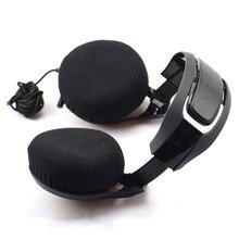 2pcs Stretchable Fabric Headphone Covers Washable Sanitary E