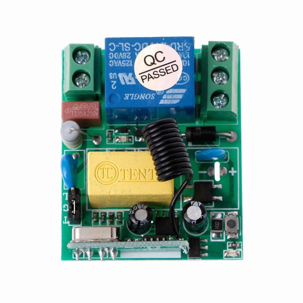 التيار المتناوب 220 فولت 10A 1CH RF 433 ميجا هرتز اللاسلكية التحكم عن بعد التبديل وحدة الاستقبال الارسال عدة للمنزل الذكي