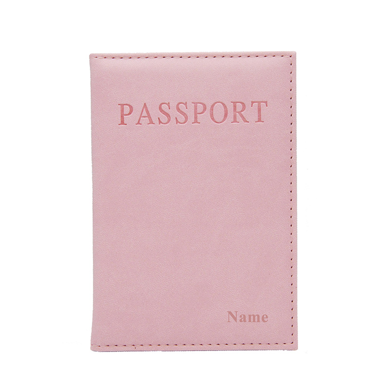 Passport Cover With Customized Name LOGO Personalised Gold Silver Embossed Engraved Color Printed Emblem Of Country Card Holder