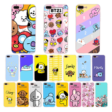 HOUSTMUST Cute cartoon design BT21 Soft silicone phone case for Apple iphone 7 6s 8 6 plus x xr xs max 5s 10 5 se cover shell
